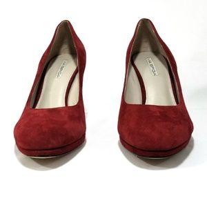 c39cfdbe9529 Via Spiga Shoes - Via Spiga Red Suede Pumps Round Toe Womens Size 11